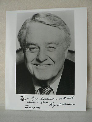 SARGENT SHRIVER 1st Director The Peace Corps  AUTOGRAPH SIGNED CARD