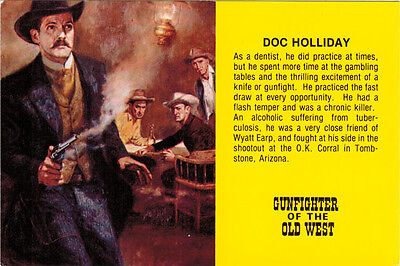 DOC HOLLIDAY  GUNFIGHTER OF THE OLD WEST  Collector's postcard Wall Drug Store