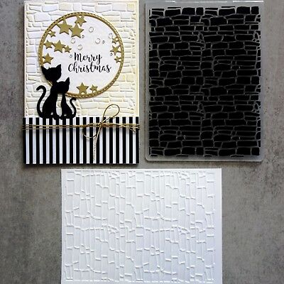 Shopaperartz Embossing Folder A2 Brick Wall Christmas Male Birthday Cardmaking