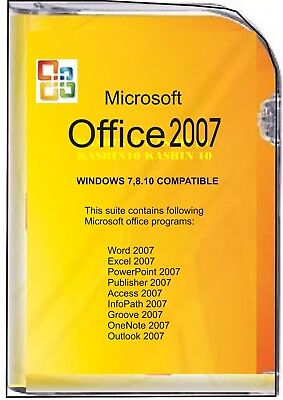 Microsoft Office 2007,Word/Excel/Outlook/Publisher etc. DVD Full version for 3pc