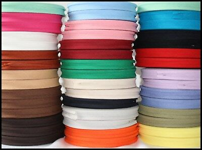 BIAS BINDING TAPE X 5 METRES (CHOICE OF COLOURS) 16MM and 12MM