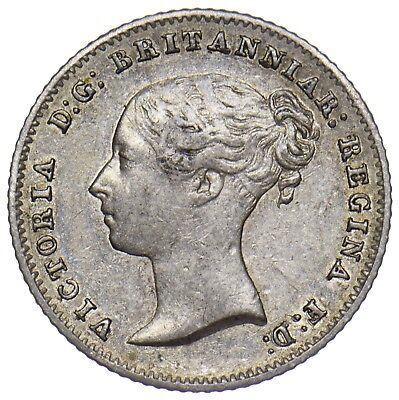 1838 Groat (Fourpence) - Victoria British Silver Coin - V Nice