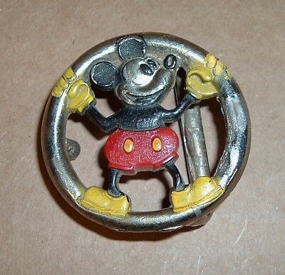 MICKEY MOUSE BELT BUCKLE Walt Disney Productions Old Vintage