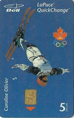 Canada Bell Caroline Olivier Ski Freestyle Olympic Champion 5 Dollar Phonecard