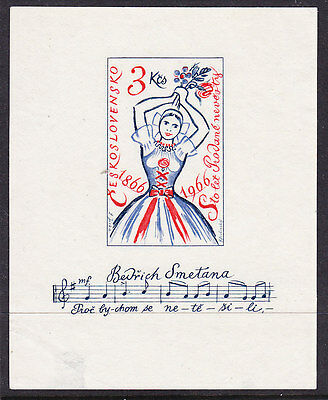 Czechoslovakia 1966 Bride Opera Miniature Sheet.- MNG