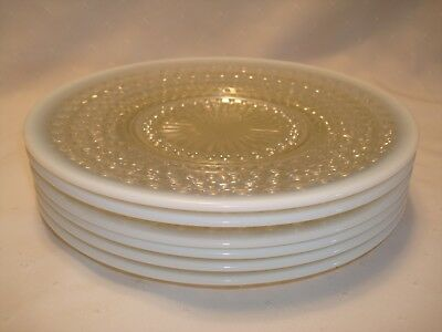 "Set Of 6 Moonstone 8"" Plates Anchor Hocking 1941 - 46"