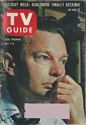 1962 TV GUIDE David Brinkley July 7-13