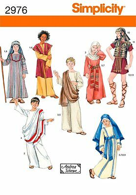 Simplicity Sewing Pattern 2976 Roman Boy and Girl Costumes, A (XS-S-M-L)
