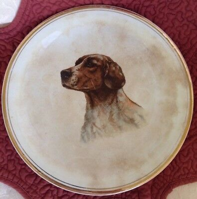 Vintage Hunting Dog Plate - distributed by Chapman Liquor - PIKES PLACE - RARE!!