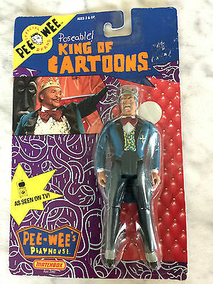 1988 PEE WEE Playhouse Poseable KING OF CARTOONS Matchbox (NEW)