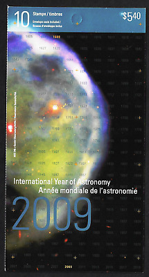 Canada Stamps - Booklet Pane of 10 - Int. Year of Astronomy #2325a (BK402) - MNH