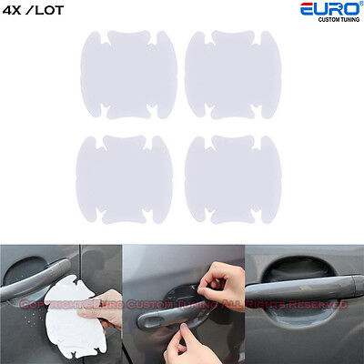 4pcs Car Universal Clear Side Door Handle  Cup Bowl Cover Protective Guard Film