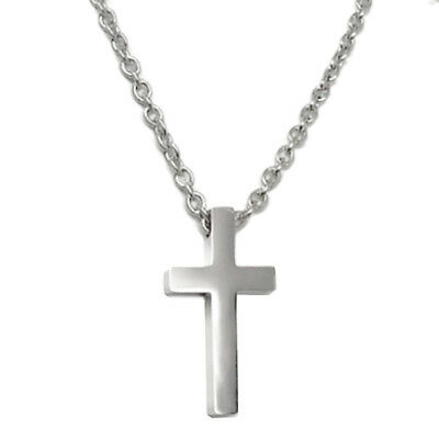 Silver Titanium Cross Pendant Stainless Steel Necklace Christian Gifts for Men