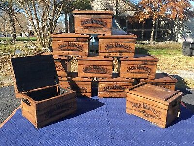Jack Daniels Tennessee Whiskey White Oak Barrel Box Chest