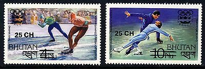 BHUTAN . 1978 Olympic Games Overprints (261-262) . Mint Never Hinged