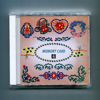Janome 8000 + 9000 Elna Kenmore Embroidery Memory Card Floral Designs No. 6