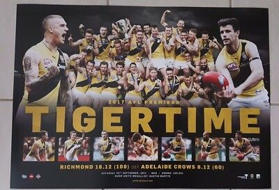 Richmond Tigers 2017 Afl Premiers Official Limited Edition Print #20 / 1000