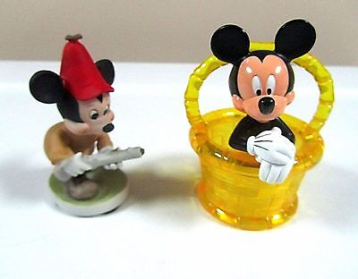 Disney Mickey Mouse Porcelain Bisque Figurine And Trinket Box