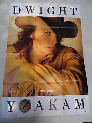DWIGHT YOAKAM Music Poster 26 X 38 Country This Time 1993