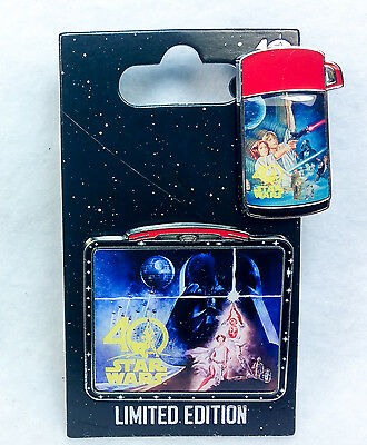Disney STAR WARS 40th ANNIVERSARY PIN LUNCHBOX & THERMOS Vintage Photos