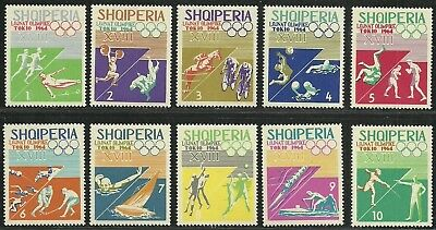 """Albania 1964 Very Fine MNH Stamps Set """" Olympic Games Tokyo """""""