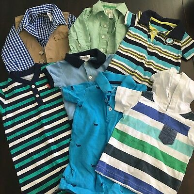 Baby Boys Size 6-9 Months Clothing Lot  Carters Some NWT & Used - Summer Fall