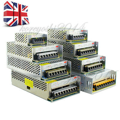 Universal 12V 3/5/10/15/20/30/50A Switching Power Supply Driver For LED Strip UK