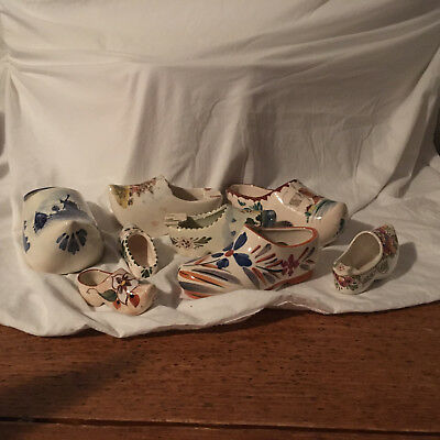 Grouping of Ceramic Clogs, made in Holland and Occupied Japan