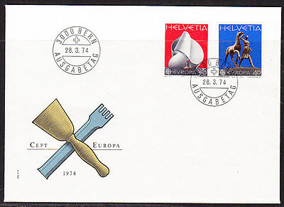 Switzerland 1974 Europa First Day  Cover- Unaddressed