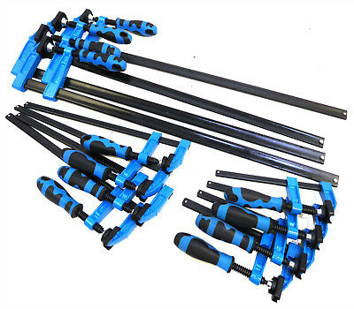 "Blue Grip F Clamps Bar Clamp Quick Slide Wood Clamp 6""-150mm 12""-300mm 24""-600mm"