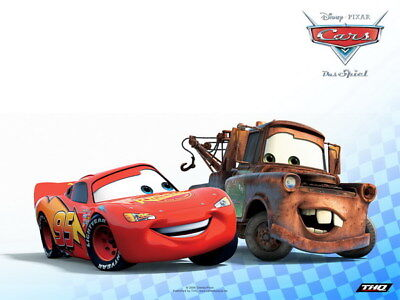 "029 Cars - Pixar Lightning McQueen Cartoon Movie 18""x14"" Poster"