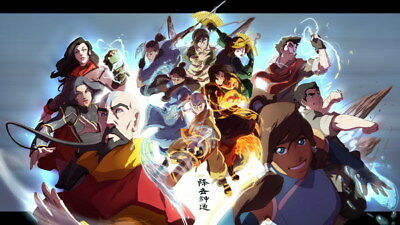 """019 Avatar The Last Airbender - Aang Fight Japan Anime 24""""x14"""" Poster"""