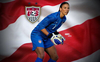 """037 Hope Solo - Team USA Keeper Football Soccer Wowen Olympic 22""""x14"""" Poster"""