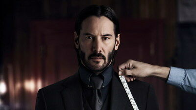 "004 John Wick Chapter 2 - Keanu Reeves 2017 Movie 24""x14"" Poster"