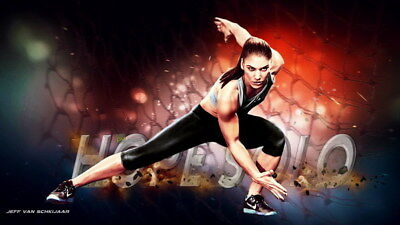 """033 Hope Solo - Team USA Keeper Football Soccer Wowen Olympic 24""""x14"""" Poster"""