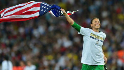 """035 Hope Solo - Team USA Keeper Football Soccer Wowen Olympic 24""""x14"""" Poster"""