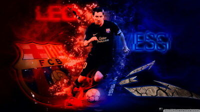 "006 Lionel Messi - Barcelona Football Soccer Top Player 24""x14"" Poster"