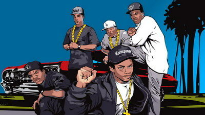 """036 Straight Outta Compton - Ice Cube MC Ren HIPHOP Moive24""""x14"""" Poster"""