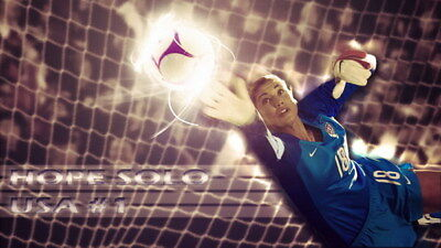 """027 Hope Solo - Team USA Keeper Football Soccer Wowen Olympic 24""""x14"""" Poster"""