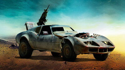"""037 Mad Max 4 Fury Road - Fight Shoot Car USA Movie 24""""x14"""" Poster"""
