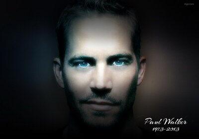 "038 Paul Walker - RIP Fast and Furious Super Movie Star 34""x24"" Poster"