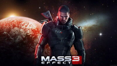 "046 Mass Effect 3 - ME Killer Fighting Shooting Hot TV Game 42""x24"" Poster"