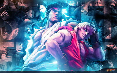 """061 Street Fighter - Fight Ryu Guile Ken ChunLi Game 38""""x24"""" Poster"""