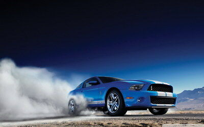 """050 Mustang - Ford Shelby GT500  Classic Racing Car concept 38""""x24"""" Poster"""