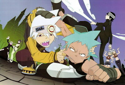 """061 Soul Eater - Shinigami Death the kid Anime 35""""x24"""" Poster"""