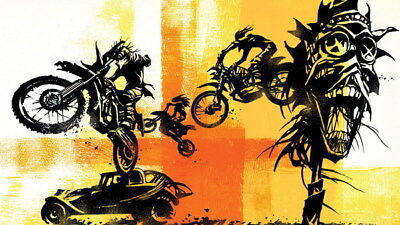 """075 Mad Max 4 Fury Road - Fight Shoot Car USA Movie 42""""x24"""" Poster"""