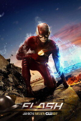 "076 The Flash - Justice League USA Hero Season 1 2 3 TV 24""x36"" Poster"