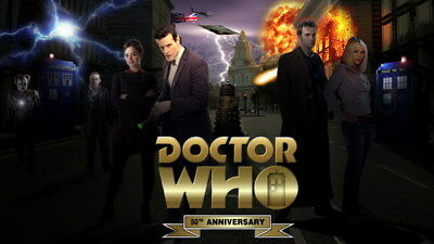 """047 Doctor Who - BBC Space Travel 50th_anniversary Hot TV Show 42""""x24"""" Poster"""