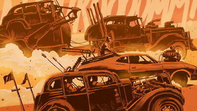 "086 Mad Max 4 Fury Road - Fight Shoot Car USA Movie 42""x24"" Poster"