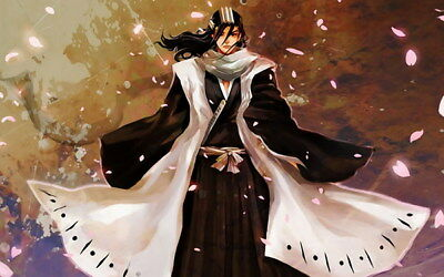 "086 Bleach - Dead Rukia Ichigo Fight Japan Anime 38""x24"" Poster"
